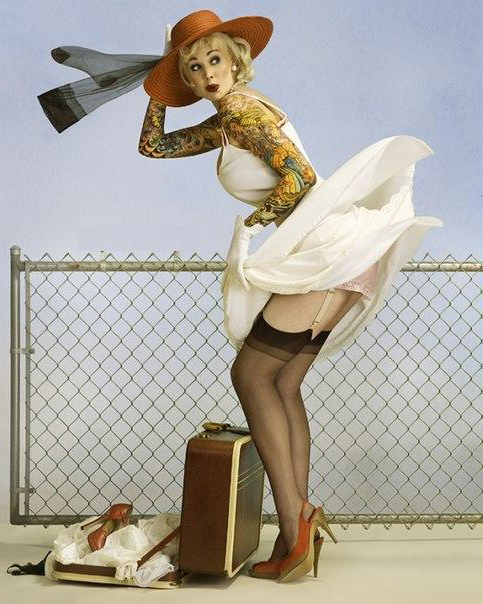 Airport Pin Up Girl tattoo design