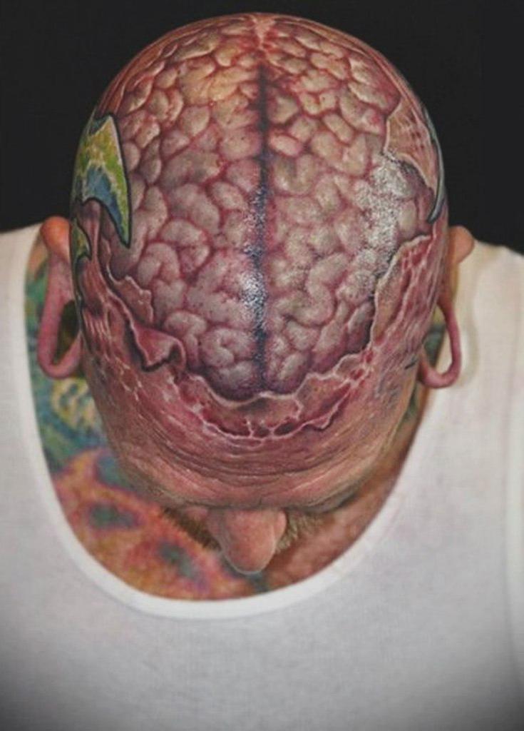 Brainiac 3D tattoo