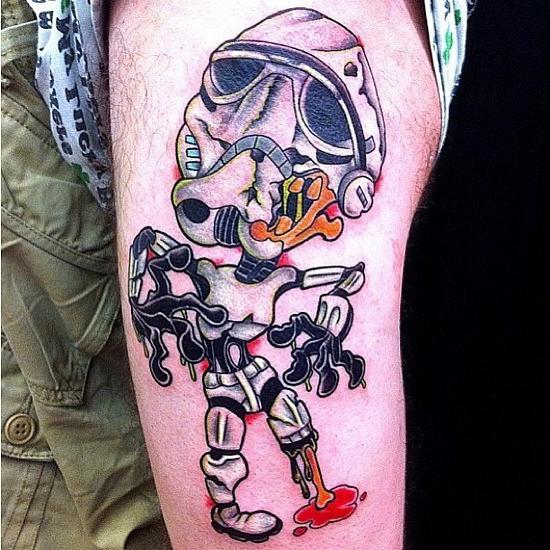 Cute Zombie Trooper Star Wars tattoo