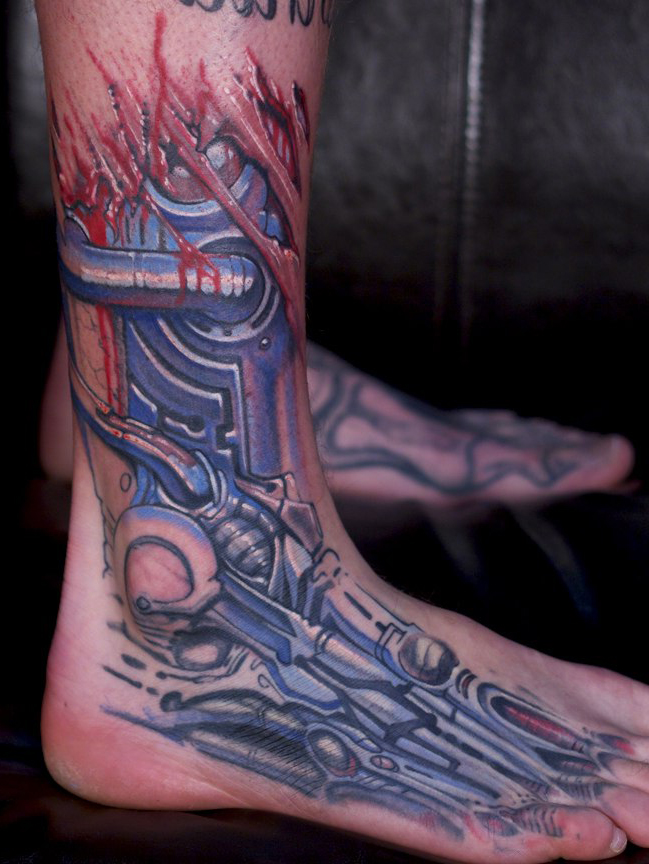 Terminator Foot tattoo