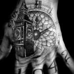 Big Ben Tower Clock tattoo by Westfall Tattoo
