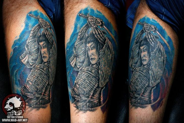 Katana Samurai Japanese tattoo by Mad-art Tattoo
