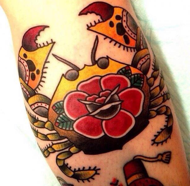 New School Rose Cancer tattoo by Chopstick Tattoo