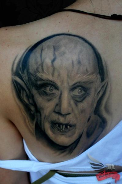 Old Vampire Graphic tattoo by Black Ink Studio