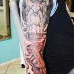 Shoulder Odin Nordic tattoo sleeve