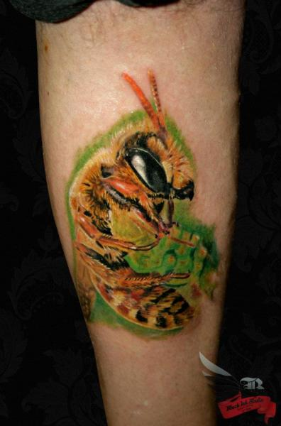 The Bee Realistic tattoo by Black Ink Studio