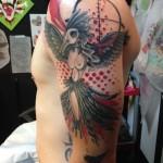 Waste Phoenix Trash Polka tattoo