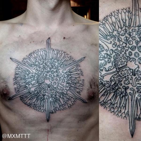Bacterium Dotwork tattoo by MXM