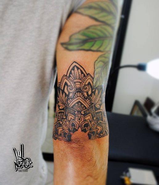 Blackwork Half Mandala tattoo by Nazo