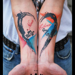 Both Hands Named Heart Trash Polka tattoo by Live Two