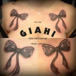 Chest Bow Ties 3D tattoo by Roony