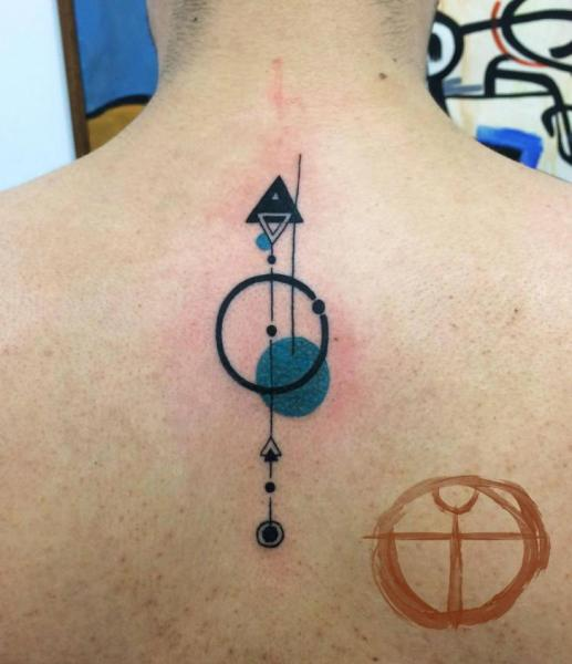 Circles and Triangles Back tattoo by Galata Tattoo