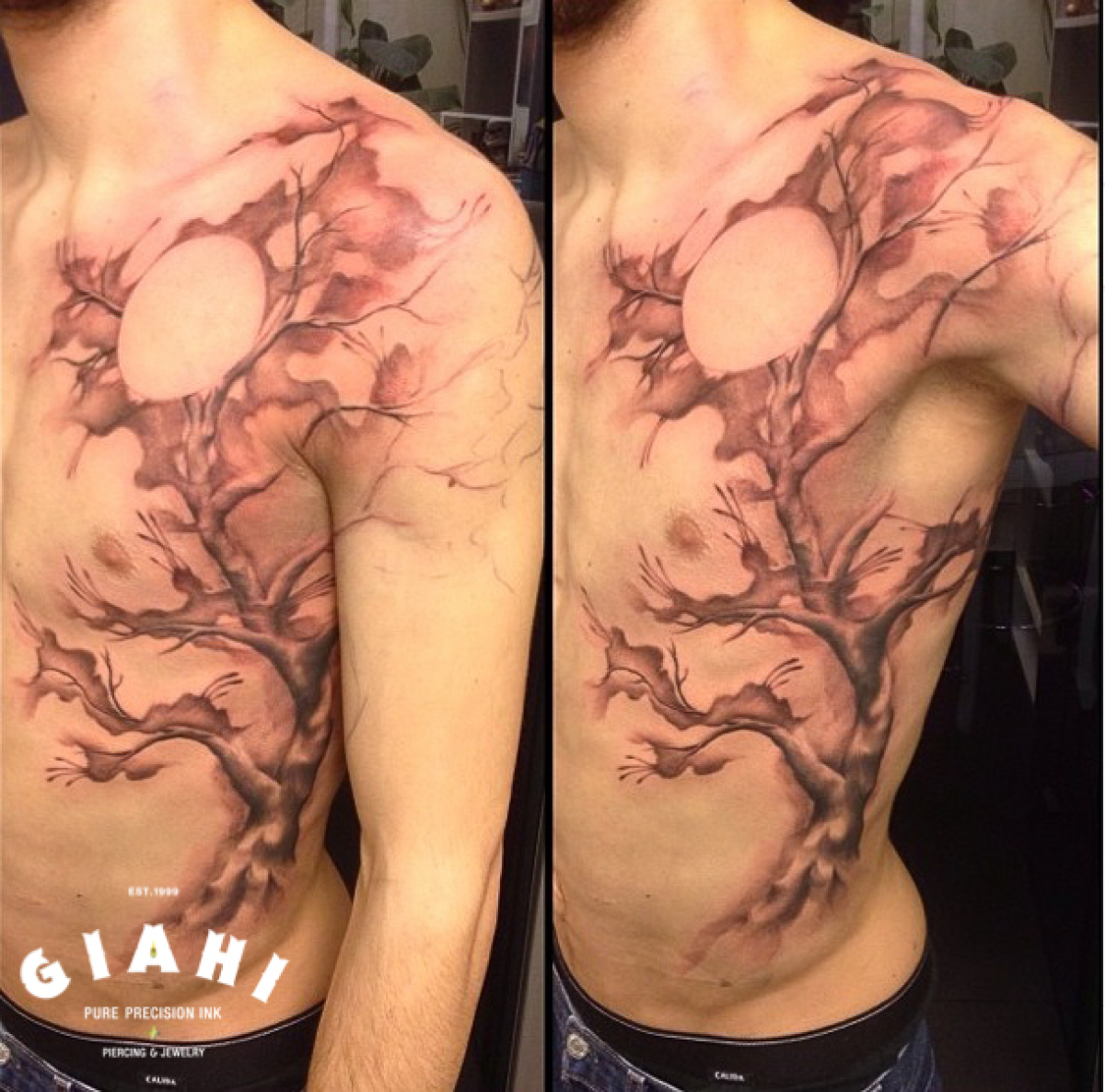 Clowing Tree Graphic tattoo by Roony