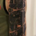 Cogwheel Mechanism Shoulder Biomechanical tattoo