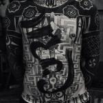 Cool Full Body Dotwork Blackwork tattoo