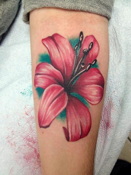 Cute Arm Flower tattoo by Tantrix Body Art