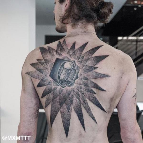 Dimond Shining Dotwork tattoo by MXM