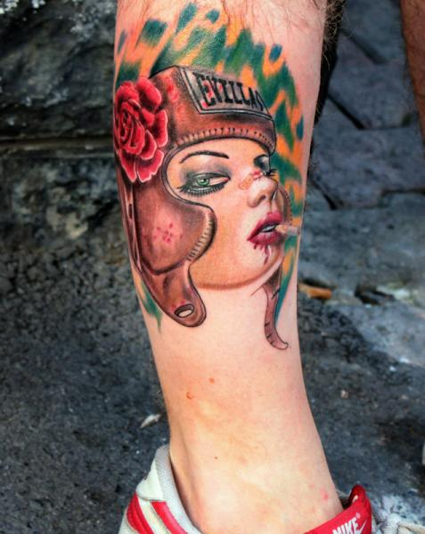 EVILLAS Girl tattoo by Resul Odabaş