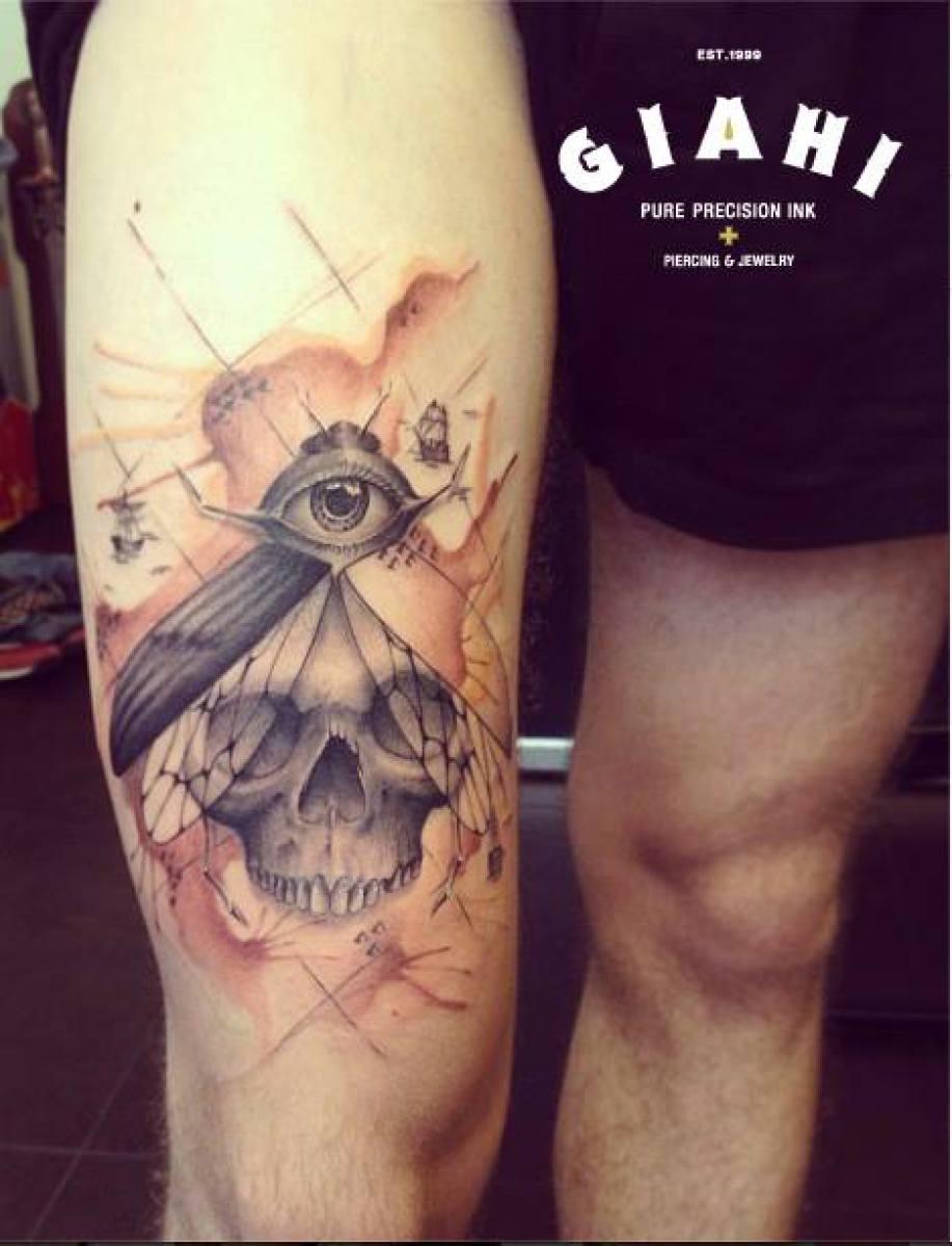 Eye Skull Fly tattoo by Roony