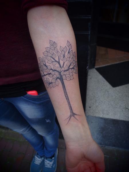 Fruit Tree Dotwork tattoo by Papanatos Tattoos