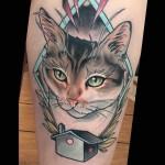 House Cat tattoo by Brian Povak