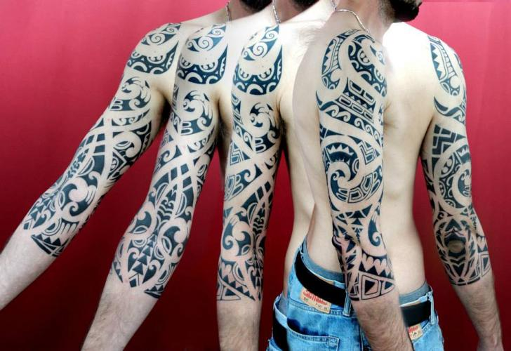 Maori Blackwork tattoo sleeve by Skin Deep Art