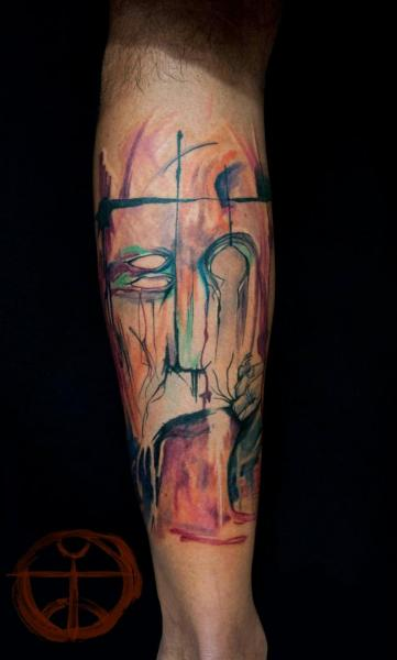 Nature Face Aquarelle tattoo by Galata Tattoo