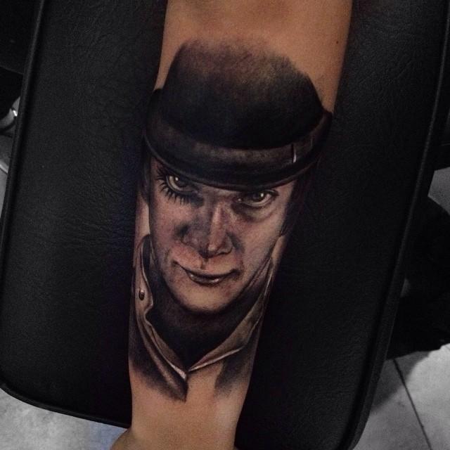 Old Times British Gang Member Realistic tattoo by Alex Bruz