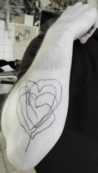Primitive Heart tattoo by Julia Rehme