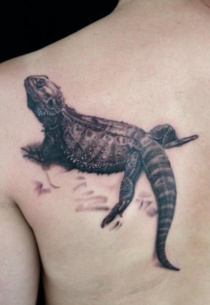 Realistic Graphic Lizard tattoo by Skin Deep Art