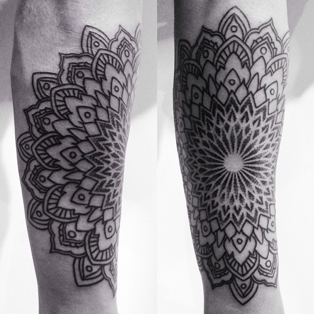 Right Circle Mandala tattoo by Corey Divine