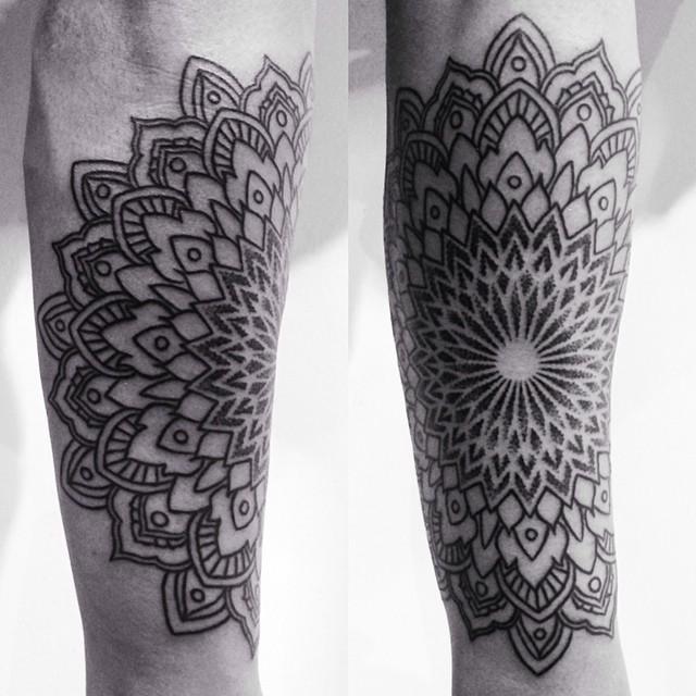 Right Circle Mandala tattoo by Corey Divine