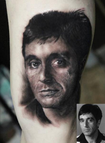 Scar Face Realistic tattoo by Georgi Kodzhabashev
