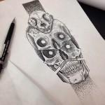 Skulls Skulls Skulls tattoo idea Alam Vinicius