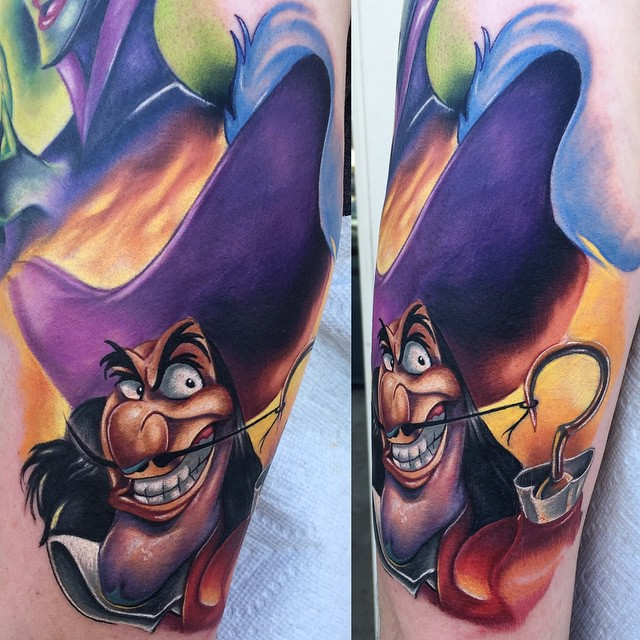 Sleeve Part Captain Hook tattoo by Audie Fulfer jr.