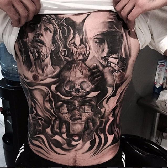 Tragic Jesus tattoo