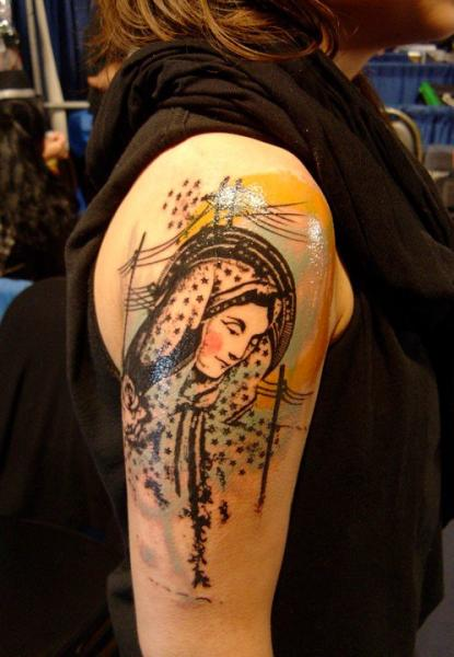 Wires Hoddy Woman Blackwork tattoo by Xoïl