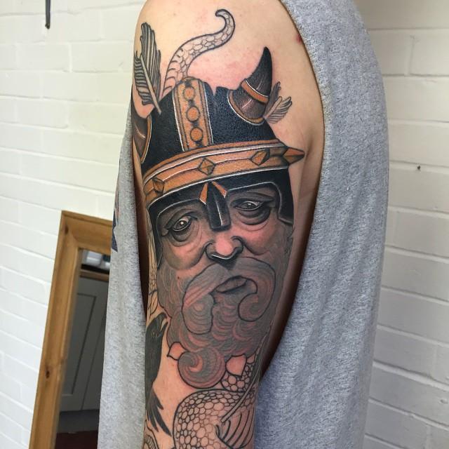 Beard Viking tattoo