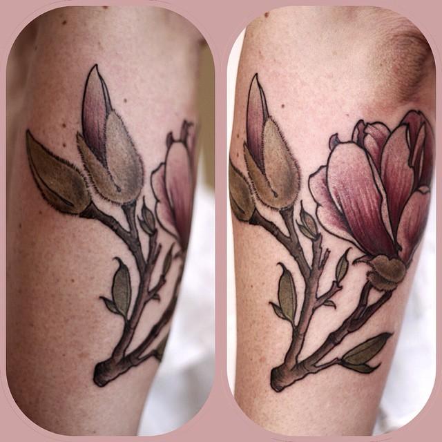 Bud Growing Flower tattoo