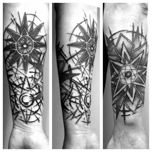 Contrast Stars tattoo on Wrist