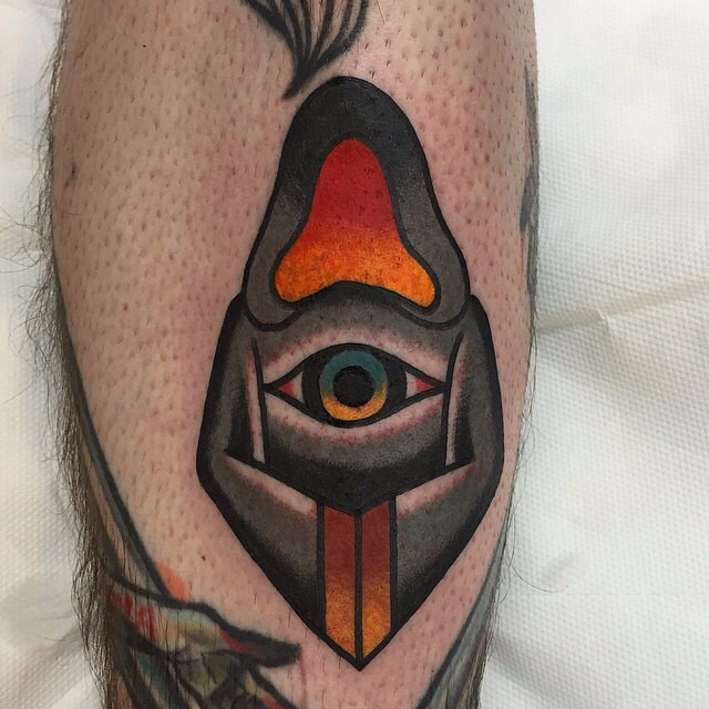 Dark Monk Leg tattoo