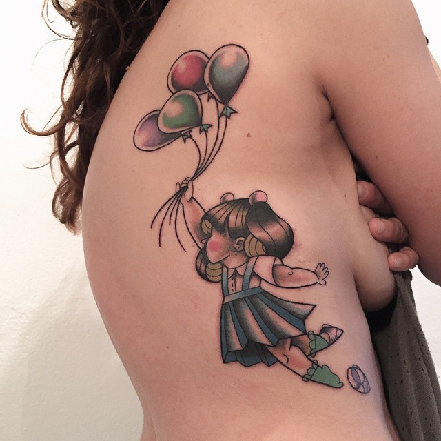 Fly Balloons Body tattoo