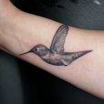 Graphic Colibri Small Tattoo on Wrist by Delan Canclini