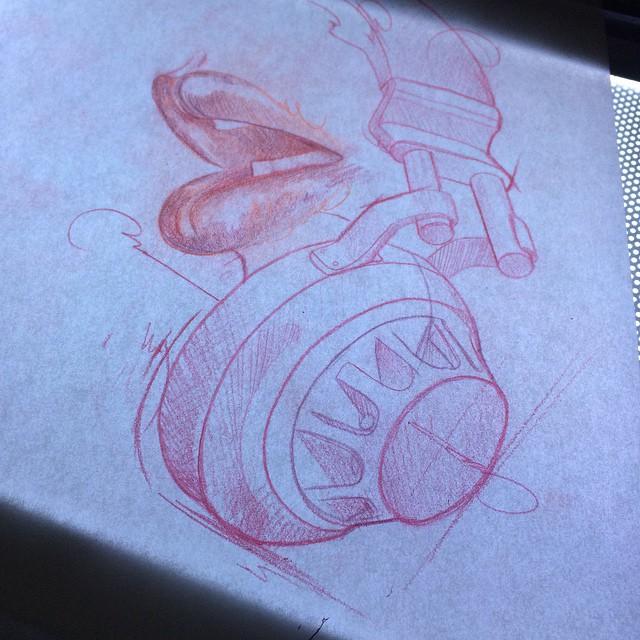 Headphones Lips tattoo idea by Hector Cedillo