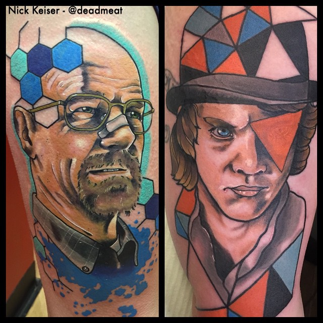 Missing Pieces Heisenberg tattoo by Nicholas Keiser
