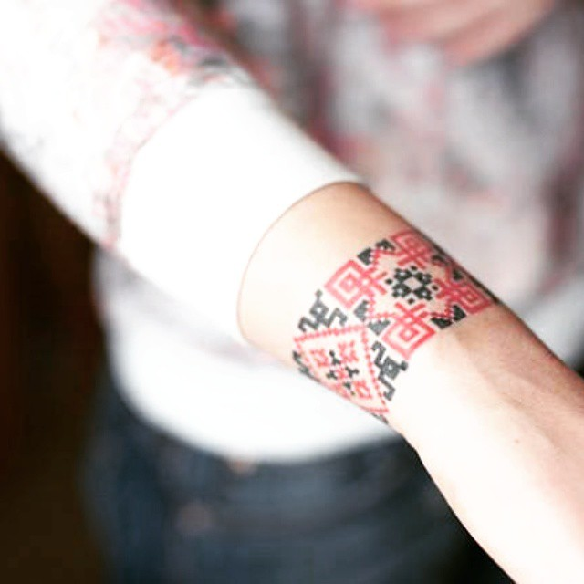 Ukrainian Pattern Forearm tattoo