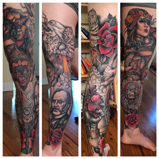 Wild Leg Of Chaos Leg tattoo by Craig Gardyan