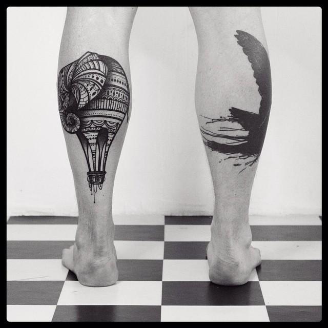 Air Leg Tattoos