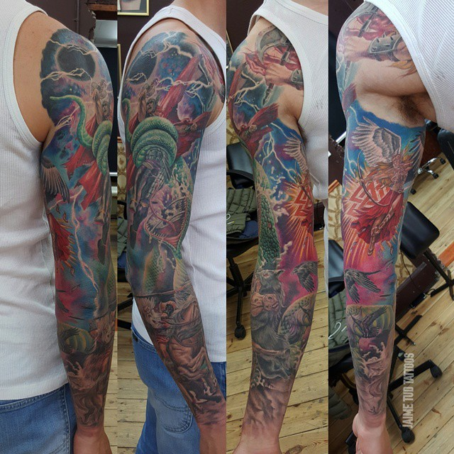 Almighty Thor Tattoo Sleeve