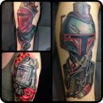 Amazing New School Star Wars tattoo